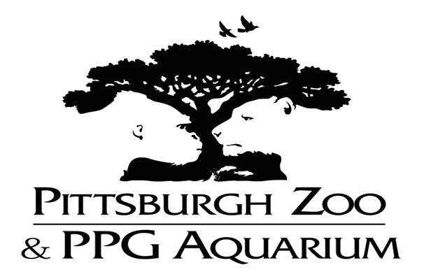 Pittsburgh zoo logo with negative space
