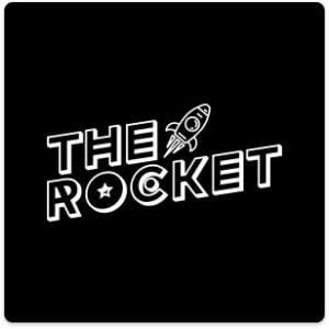 logo with black background
