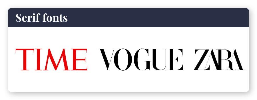 logo with serif font