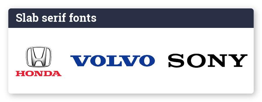 logo with slab serif font