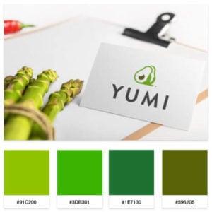 food blog color palette