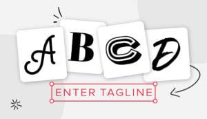 single letter logos header