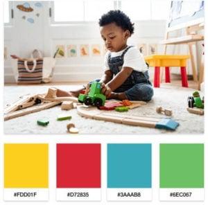 kids blog color palette