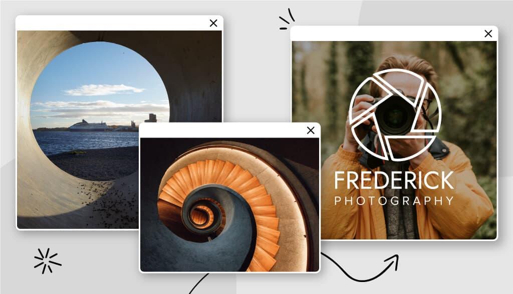 circle logos header