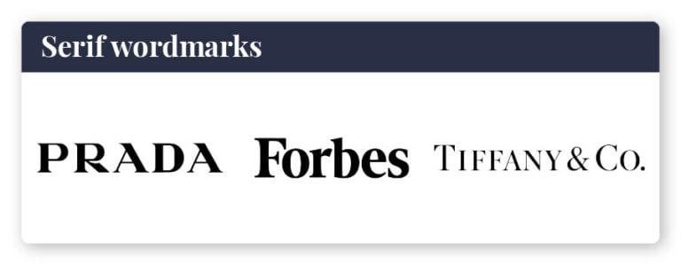 serif wordmarks logos