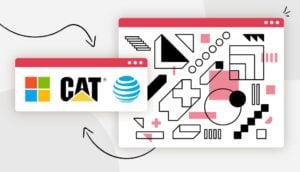 logo shapes header