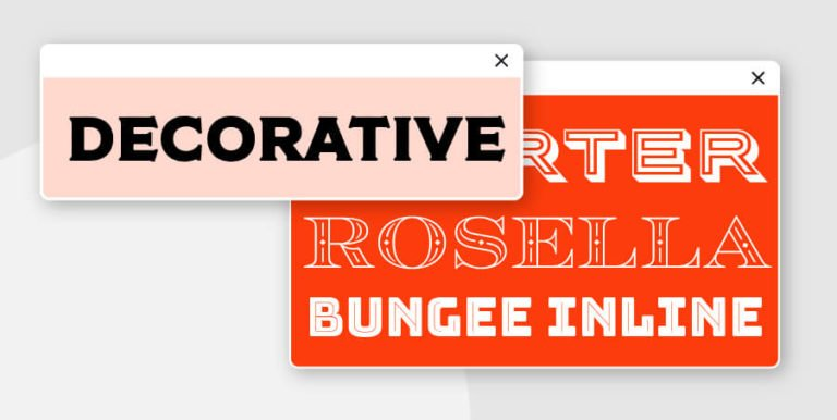 decorative fonts