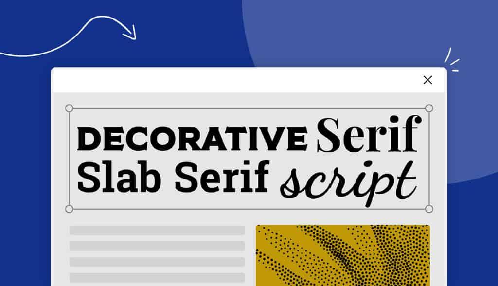 header types of fonts