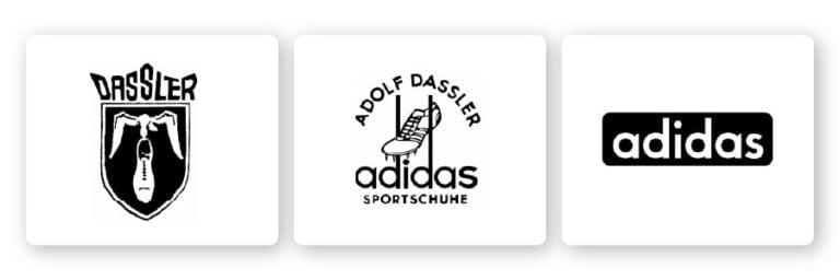 historic adidas logos